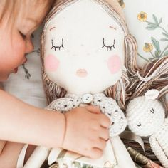 Who else is feeling as sleepy as these lot this Sunday morning? Well lie in's are non existent in our house, probably the same as anyone else with a toddler. even our doggy Boo is told she must 'wake up, its morning! Tiny Dolls, Soft Dolls, Cute Dolls, Sewing Dolls, Child Doll, Doll Maker, Doll Crafts, Fabric Dolls, Diy Toys