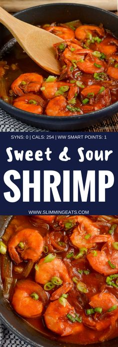 Slimming Eats Syn Free Sweet and Sour Shrimp - gluten free, dairy free, Slimming World and Weight Watchers friendly Prawn Recipes, Seafood Recipes, Asian Recipes, Dinner Recipes, Seafood Bake, Plats Weight Watchers, Weight Watchers Meals, Healthy Cooking, Cooking Recipes