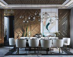 Dining Room Wall Decor, Dining Room Design, Modern House Design, Modern Interior Design, Luxury Dining Room, Hall Design, Dining Room Inspiration, Luxurious Bedrooms, Decoration