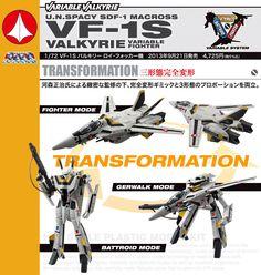 Macross Robotech 1/72 VF-1S Valkyrie Roy Focker Variable Fighter Model Kit