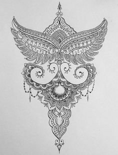 Mandala style tattoo design idea. Great for thigh placement.