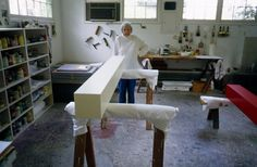 """""""Anne Truitt in her 35th Street studio, Washington, DC, 2003"""" From Notes on looking"""