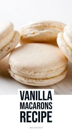 Vanilla Macaron Recipes, French Macaroon Recipes, Macaroon Cookies, French Macaroons, Best Macaroon Recipe, Christmas Macaron Recipe, Macaroon Box, Pink Macaroons, Sweets