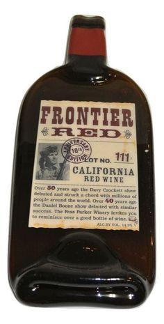 Fess Parker Frontier Red Melted Wine Bottle Cheese Serving Tray - Wine Gifts
