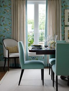 *Sarah Richardson is brilliant.  If I was a chair, I would be one of these blue polka dotted ones!