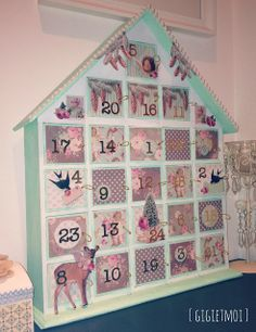 Adventer calendar. Decorate with Tilda papers.