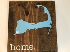 Cape Cod Wood Sign, State Sign, Custom Wood Sign, Pallet Sign, Personalized Wood Sign, home decor, wall art, moving gift