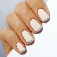 ongles décorés deco ongle gel, deco ongle beige