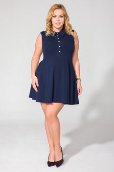 Sukienka T115 Size Plus - Tessita