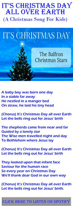 It's Christmas Day All Over Earth - A Christmas Song For Kids