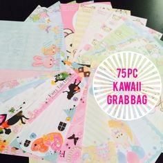 Kawaii Grab Bag 75 pcs - kawaii memos and stickers