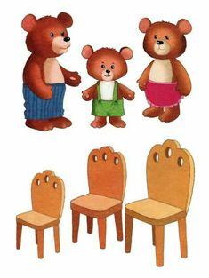 Preschool Learning Activities, Kindergarten Worksheets, Preschool Activities, Teaching Kids, Art For Kids, Crafts For Kids, Goldilocks And The Three Bears, Preschool Centers, Kids Education