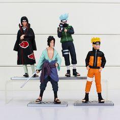 Naruto Figures Toys 12cm Naruto Sasuke Hatake Kakashi PVC Model Action Figure 4 Pcs //Price: $15.18 & FREE Shipping //     #actionfigurecollectors