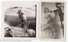 PETER LAMONT WWII NOSE ART PIN-UP ARTIST VINTAGE WWII AVIATION SNAPSHOT PHOTOS