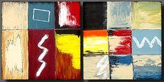 """Collage"" - Original Abstract Art by Lena Karpinsky, http://www.artbylena.com/original-painting/28/collage.html"