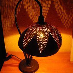 """Lampe de bureau - bol calebasse """"flor""""                                                                                                                                                                                 Plus"""