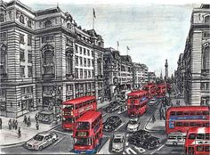 Stephen WIltshire Vista de Londres