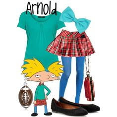 """Arnold from Hey Arnold!"" by likeghostsinthesnow on Polyvore"