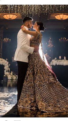 Desi Wedding Dresses, Indian Wedding Outfits, Bridal Outfits, Wedding Lenghas, Indian Bridal Fashion, Pakistani Bridal Dresses, Punjabi Wedding, Pakistani Suits, Punjabi Suits