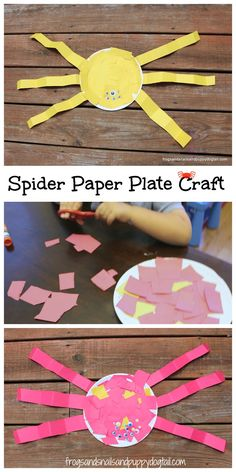 Good for the book There Was an Old Woman Who Swallowed a Fly...Spider Paper Plate Craft by FSPDT