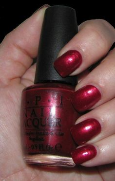O.P.I I'm not really a waitress  nail polish....It also comes in the Gel nail polish form if you prefer... it looks like a pixk red on there website but it's not I promise