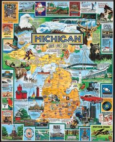 White Mountain Puzzles Best of Michigan  1000 Piece Jigsaw Puzzle -- You can find out more details at the link of the image.