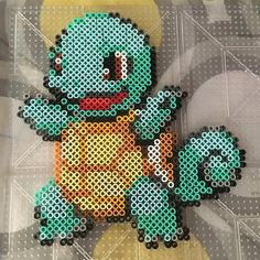 Squirtle Pokemon perler beads by pokemon.geek.boutique