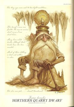 """Northern Quarry Dwarf"" from ""Arthur Spiderwick's Field Guide to the Fantastical World Around You"" illustration by Tony DiTerlizzi."