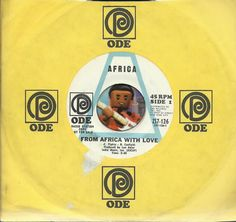 AFRICA From Africa With Love NORTHERN SOUL R&B WLP PROMO DJ 45 RPM RECORD VG++
