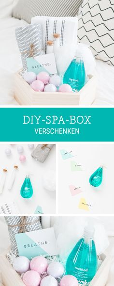 DIY inspiration for homemade gifts: gift box for a spa day . - DIY inspiration for homemade gifts: DIY gift box for a spa day / wooden gift box for a relaxing spa - Wooden Gift Boxes, Wooden Gifts, Wooden Diy, Diy Gifts For Friends, Gifts For Mum, Best Friend Gifts, Spa Box, Diy Birthday, Birthday Gifts