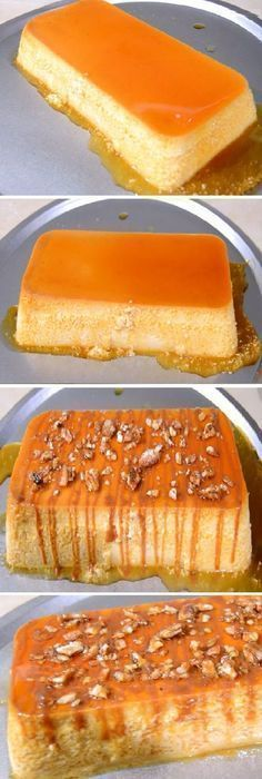 Pin on Postres No Bake Desserts, Delicious Desserts, Dessert Recipes, Yummy Food, Bolo Flan, Low Carb Recipes, Cooking Recipes, Cuban Cuisine, Flan Recipe