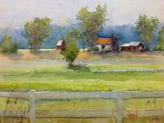 """Farm by the River"" by Judy Mudd"