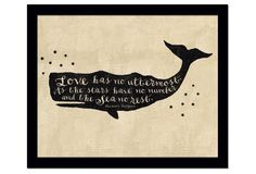 "This vintage letterpress style silhouette of a whale bears the words of English children's book author Eleanor Farjeon, ""Love has no uttermost. As the stars have no number and the sea no rest. Cute Little Quotes, Little Things Quotes, Sweet Quotes, Nautical Star, Nautical Theme, Shark Tale, Save The Whales, White Whale, Star Logo"
