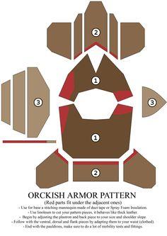 Orckish armor pattern by ~Zapan99 on deviantART