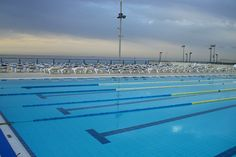the heated outdoor pool by Esthr, via Flickr