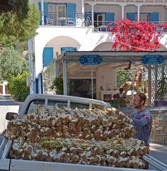 Garlic delivered at The Odyssey #Greece #Poros