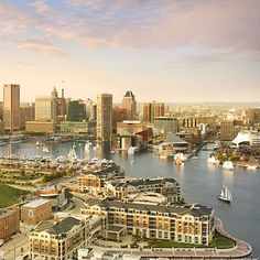 Baltimore's Inner Harbor and Skyline, (Baltimore, Maryland)