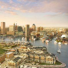 Baltimore's Inner Harbor and Skyline, (Baltimore, Maryland)