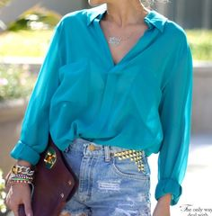 Gorgeous shade of turquoise. I am obsessed...