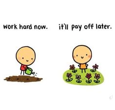 Nothing is ever achieved without hard work ☺