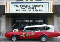 The Monkeemobile: Mel Gutherie bought the original car from the show in 2008 for $500,000 - it was signed by the late Davy Jones in 2010 at a concert