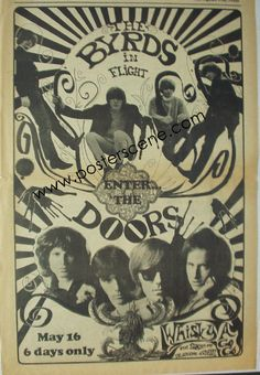 The Byrds and The Doors -whiskey agogo concert poster