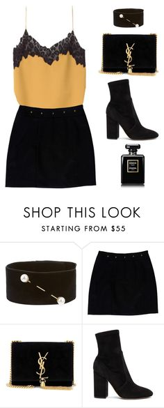 """#846"" by aliensforsale ❤ liked on Polyvore featuring Versace, Dries Van Noten, Loeffler Randall, Yves Saint Laurent and Valentino"