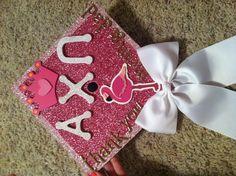 My Alpha Chi Omega graduation cap! Alpha Omicron Pi, Alpha Chi Omega, Greek Crafts, Graduation Cap Designs, Cap Decorations, Cap Ideas, 3 Letter, Grad Cap, Sorority Life