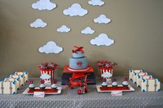 Plane Themed Boy's First Birthday Party: The Background