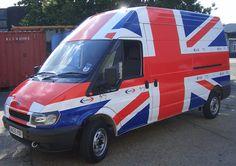 britannia vehicle wrap