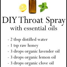 DIY Essential Oil Throat Spray