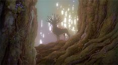 Princess Mononoke. This notion of good in the animal and in the human worlds. + A great blog on animation of 'Magic Kingdoms'.