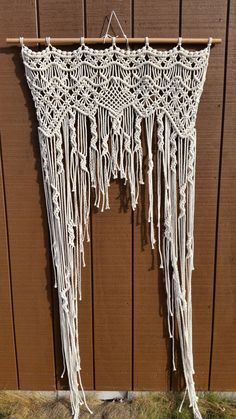 This is for a made to order macrame curtain, handmade by me using 100% natural cotton rope. Would work wonderfully as a wedding backdrop,