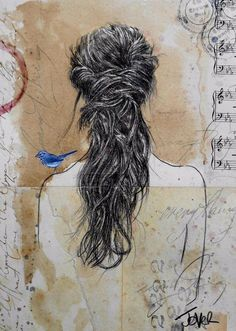Another day with the bluebird. -- Loui Jover, Australia. #drawing - Twitter Search